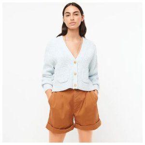 J. Crew Cropped patch-pocket beach cardigan sweater - size medium